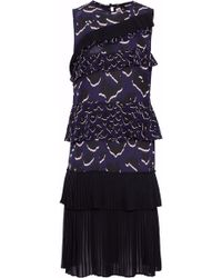 Markus Lupfer - Tiered Ruffled Leopard-print Silk-georgette Dress - Lyst