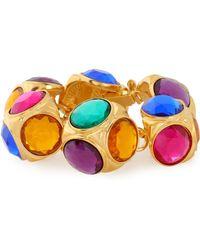 Ben-Amun - Woman Gold-plated Crystal Bracelet Gold - Lyst