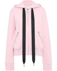 Lyst - Marques Almeida Blend Cotton Hoodie in Pink f72998e49