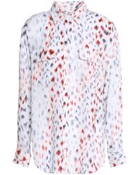 Equipment - Printed Silk-crepe De Chine Shirt - Lyst