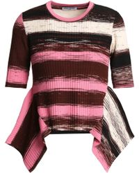 Opening Ceremony - Striped Stretch-knit Top - Lyst