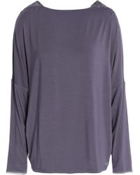 Calvin Klein - Seductive Comfort Lace-trimmed Stretch-modal Pyjama Top - Lyst