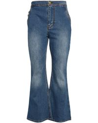 Ellery - Faded High-rise Flared Jeans - Lyst