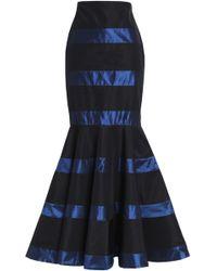 Johanna Ortiz - Fluted Striped Silk-satin Maxi Skirt - Lyst