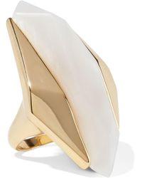 Noir Jewelry - Woman Light Beam 14-karat Gold-plated Resin Ring Gold Size 6 - Lyst