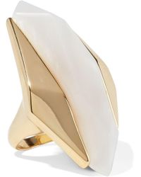 Noir Jewelry - Woman Light Beam 14-karat Gold-plated Resin Ring Gold - Lyst