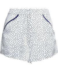 Fleur du Mal - Polka-dot Silk-satin Pyjama Shorts - Lyst