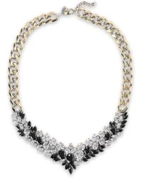 Iosselliani - Woman Burnished Gold-tone Crystal Necklace Gold - Lyst