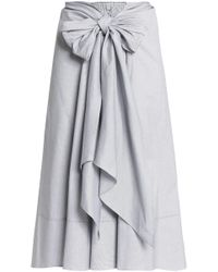 TOME - Tie-front Cotton Skirt - Lyst