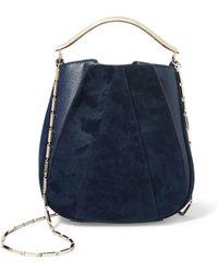 Eddie Borgo - Pepper Pochette Mini Twill And Textured-leather Bucket Bag - Lyst