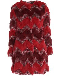 Ainea - Printed Faux Fur Jacket - Lyst