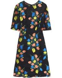 Lela Rose - Holly Elbow Sleeve Dress - Lyst