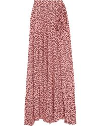 01603f43c Alexis - Corinna Wrap-effect Printed Crepe Maxi Skirt - Lyst