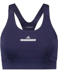 4bb6411dddf20 adidas By Stella McCartney - Woman The Pull-on Stretch Sports Bra Indigo -  Lyst