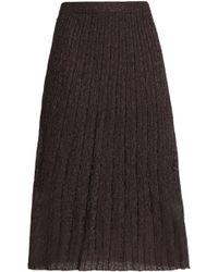 M Missoni - Pleated Metallic Crochet-knit Midi Skirt - Lyst
