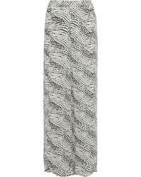 ViX - Berry Split-front Printed Gauze Wide-leg Pants - Lyst