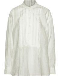 JOSEPH - Pintucked Linen Tunic - Lyst