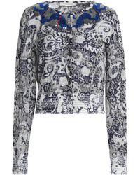 Marc Jacobs - Sequin-embellished Distressed Metallic Jacquard-knit Cardigan - Lyst