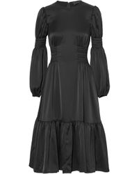 Co. - Gathered Crepe De Chine Dress - Lyst