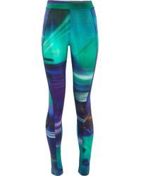 Y-3 - + Adidas Printed Stretch-cotton Jersey leggings - Lyst