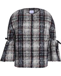 Stella Jean - Checked Tweed Jacket - Lyst