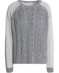 House of Dagmar - Cotton-blend Cable-knit Jumper - Lyst