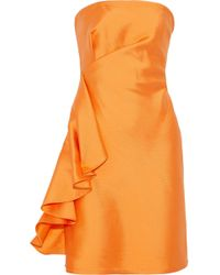Sachin & Babi - Ortakoy Strapless Side-ruffle Mini Dress - Lyst