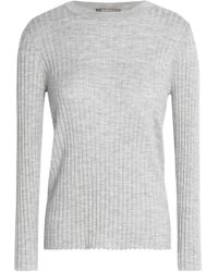N.Peal Cashmere - Mélange Ribbed Cashmere And Silk-blend Sweater - Lyst