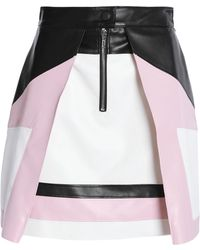 MSGM - Layered Faux Leather Mini Skirt Baby Pink - Lyst