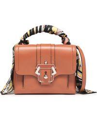 Paula Cademartori - Satin-trimmed Leather Shoulder Bag Light Brown - Lyst