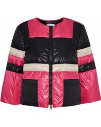 RED Valentino - Cropped Quilted Color-block Shell Jacket - Lyst