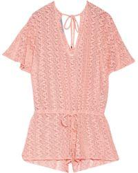 Melissa Odabash - Alyna Crochet-knit Playsuit - Lyst