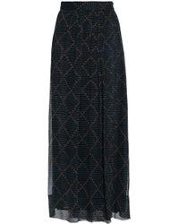 Étoile Isabel Marant - Printed Silk-georgette Maxi Wrap Skirt Midnight Blue - Lyst