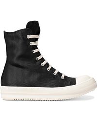 DRKSHDW by Rick Owens - Rubber-paneled Faille High-top Sneakers - Lyst