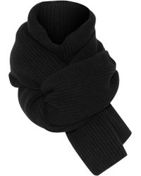 Rosetta Getty - Ribbed Wool And Cashmere-blend Scarf - Lyst