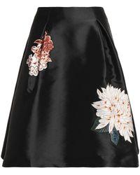 Sachin & Babi - Embroidered Duchesse Satin-twill Skirt - Lyst