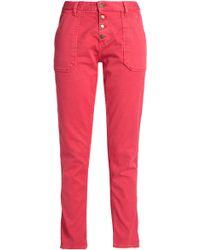 Ba&sh - Woman Mid-rise Straight-leg Jeans Papaya - Lyst