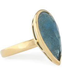 Ippolita - 18-karat Gold Topaz Ring Storm Blue - Lyst