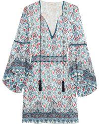 Talitha - Embroidered Silk-georgette Mini Dress - Lyst