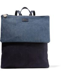 Clare V. - Agnes Denim And Canvas Backpack - Lyst