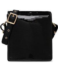 Emilio Pucci - Leather-trimmed Sequined Satin Shoulder Bag - Lyst