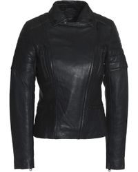 Muubaa - Quilted Leather Biker Jacket - Lyst