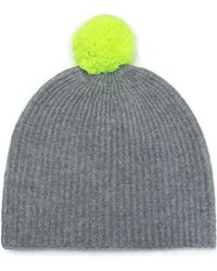Duffy - Pompom-embellished Ribbed Cashmere Beanie - Lyst