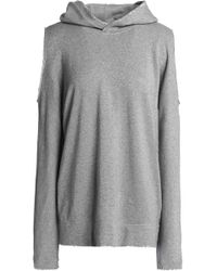 RTA - Juno Cold-shoulder French Cotton-blend Terry Hooded Sweatshirt - Lyst
