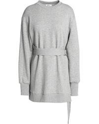 Goen.J - Belted French Cotton-terry Sweatshirt Light Grey - Lyst