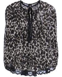Marc Jacobs - Woman Leopard-print Silk Top Animal Print - Lyst