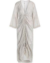 Day Birger et Mikkelsen - Ruched Printed Cotton Dress - Lyst