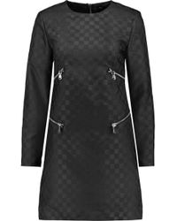 Marc By Marc Jacobs - Zip-embellished Faille Mini Dress - Lyst