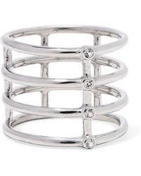 Elizabeth and James - Silver-tone Crystal Ring - Lyst