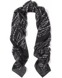 IRO - Printed Wool-gauze Scarf - Lyst